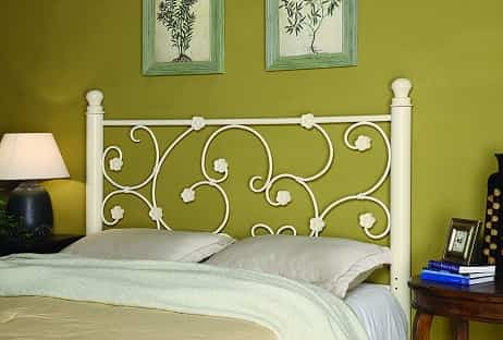 Coaster Home Furnishings Full/Queen Metal Headboard - Vine Pattern White