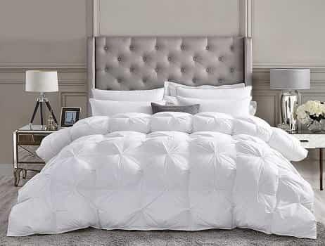Luxurious All-Season Goose down Comforter Queen Size Duvet Insert
