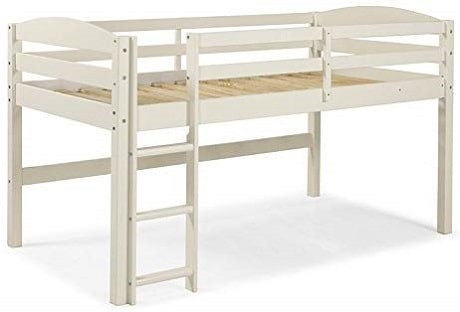 Pemberly Row Solid Wood Low Loft Twin Bed