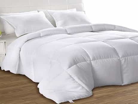 Utopia Bedding Down Alternative White Comforter